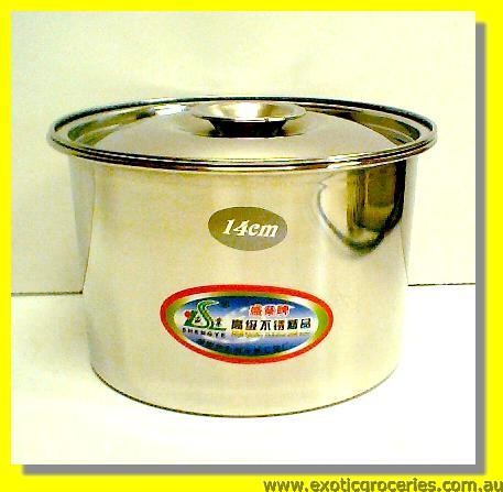 Stainless Steel Pot with Lid 14cm (E309)