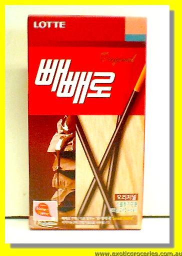 Pepero Chocolate Coated with Biscuits